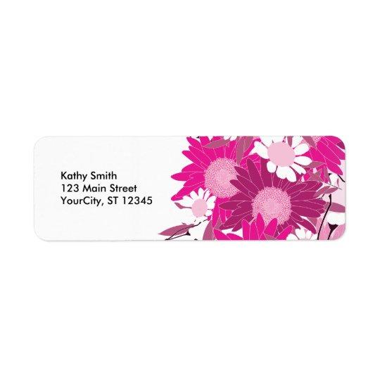Pretty Pink Floral Pattern Custom Address Labels