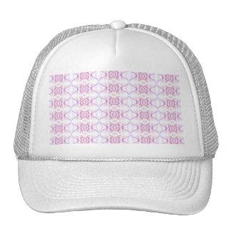 Pretty Pink Floral Pattern. White & Lilac. Trucker Hat