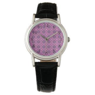Pretty pink Floral Pattern Wristwatch