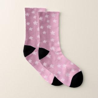 Pretty Pink Floral Socks 1