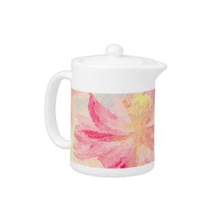 Pretty Pink Floral Teapot