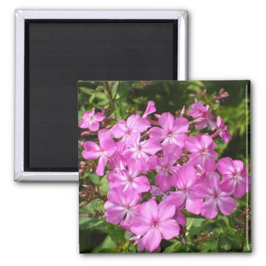 Pretty Pink Flower Bouquet Square Magnet