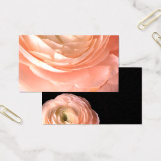 pretty pink flower business card double sided