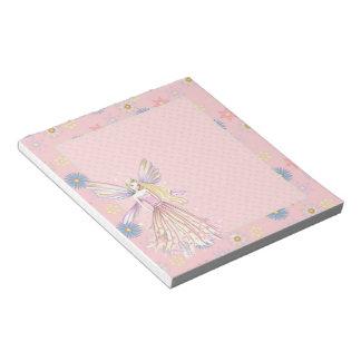 Pretty Pink Flower Fairy Notepad
