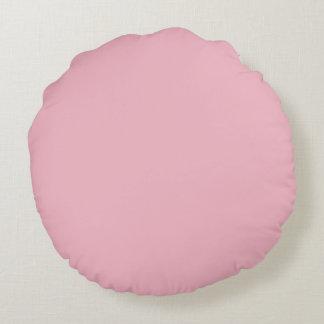 Pretty Pink Flower Image Round Pillow