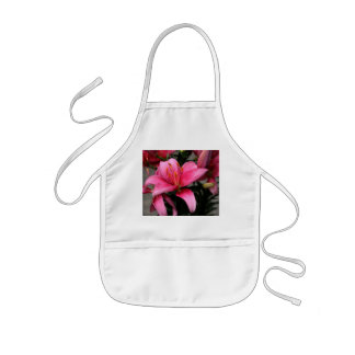 Pretty Pink Flower in Bloom and Buds Kids Apron