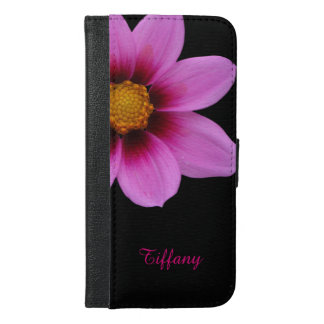 Pretty Pink Flower iPhone 6 Plus Wallet Case