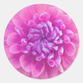 Pretty Pink Flower Stickers