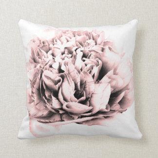 Pretty pink flower throw pillow