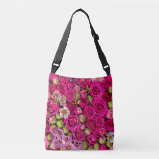 Pretty pink flower tote bag