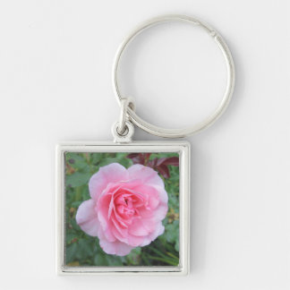 Pretty Pink Flowering Rose Key Chains