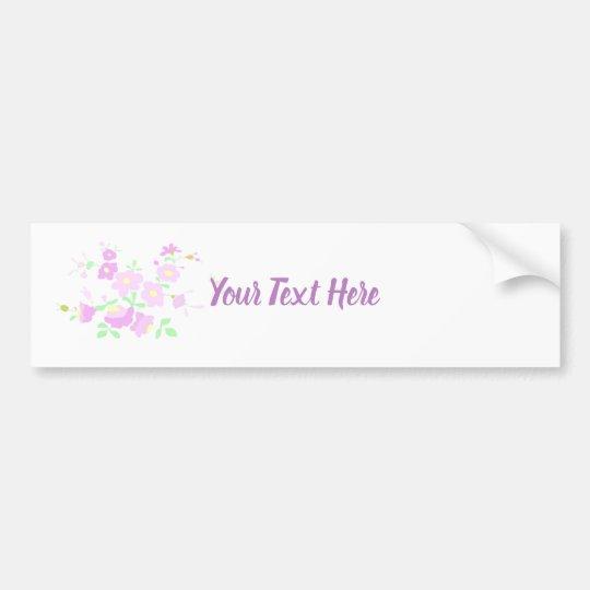 Pretty Pink  Flowers Bumper Sticker