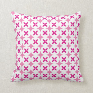 Pretty Pink Flowers - Cute Floral Pattern Pillow