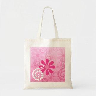 Pretty Pink Flowers Cute Retro Daisy Pattern