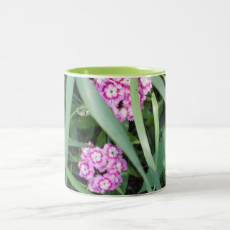 Pretty Pink Flowers Two-Tone Coffee Mug