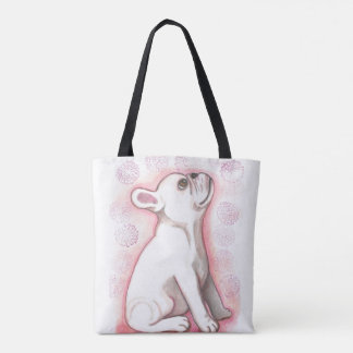 Pretty pink French Bulldog cute tote