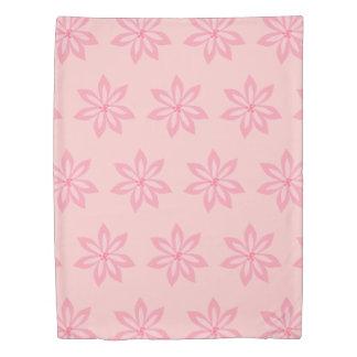 Pretty Pink Fun Modern Flower Pattern Custom Color Duvet Cover