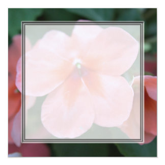 Pretty pink garden flowers blank wedding, party, custom announcements