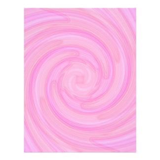 Pretty pink girly swirl letterhead