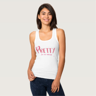Pretty Pink Glitter and Pink Racerback Tank Top