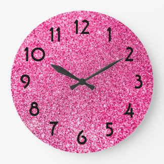 Pretty Pink Glitter Photo Clocks
