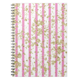 Pretty Pink & Gold Journal Notebook for Journaling