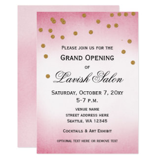 Pretty Pink Grand Opening Party Invitation