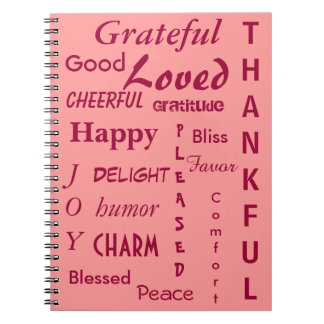 Pretty Pink Gratitude Notebooks