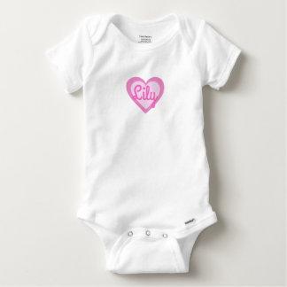 Pretty Pink Heart Customisable Gerber Baby Vest Baby Onesie