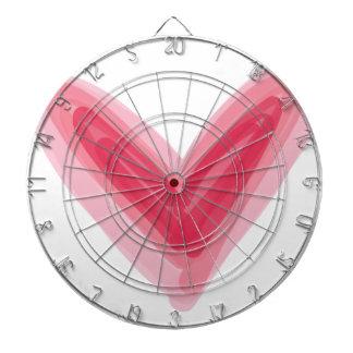 Pretty Pink Heart Print, Beautiful Spring Love Hea Dartboard