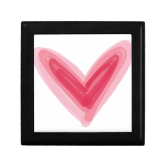 Pretty Pink Heart Print, Beautiful Spring Love Hea Keepsake Boxes