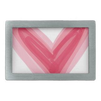 Pretty Pink Heart Print, Beautiful Spring Love Hea Rectangular Belt Buckles