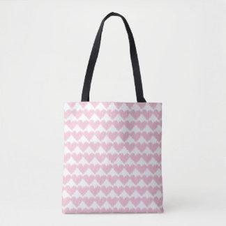 Pretty pink heart tote