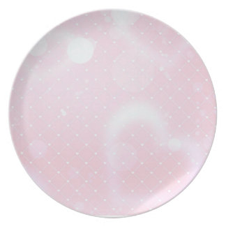 Pretty pink hearts and squares plate
