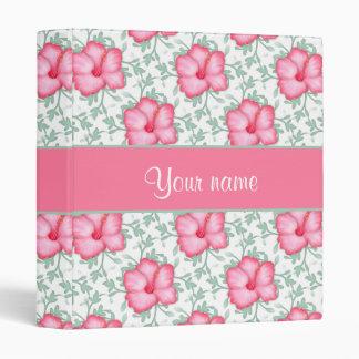 Pretty Pink Hibiscus Flowers Binders