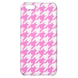 Pretty Pink Houndstooth 1 Cover For iPhone 5C