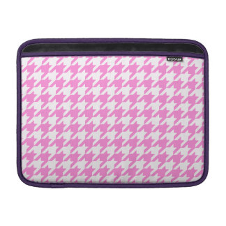 Pretty Pink Houndstooth 1 MacBook Sleeve