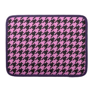 Pretty Pink Houndstooth 2 MacBook Pro Sleeves