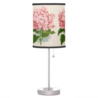 Pretty Pink Hydrangea Flowers Summer Garden Desk Lamps