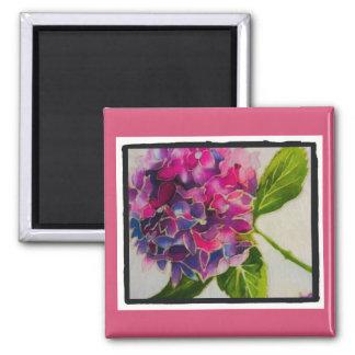 Pretty pink hydrangea magnet