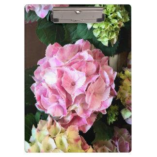 Pretty Pink Hygrangea Clipboard