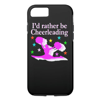 PRETTY PINK I WOULD RATHER BE CHEERLEADING DESIGN iPhone 7 CASE