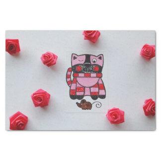 PRETTY PINK KITTY TISSUE PAPER