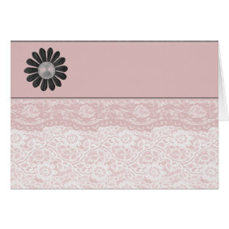 Pretty Pink Lace Card