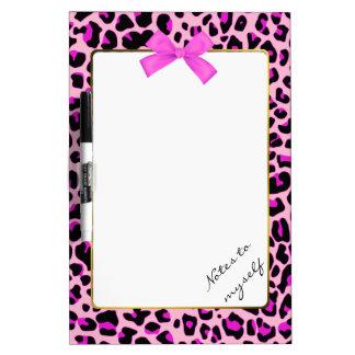 Pretty Pink Leopard Print Dry Erase Board