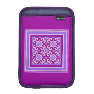 Pretty Pink Mauve Curly Pattern Mini iPad Sleeve