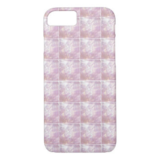 Pretty Pink Mother of Pearl Tile Effect iPhone 7 Case