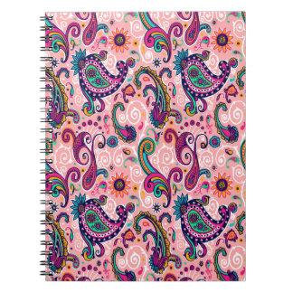 Pretty Pink Paisley Pattern Notebook