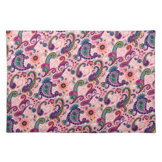Pretty Pink Paisley Pattern Placemat