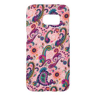Pretty Pink Paisley Pattern Samsung Galaxy S7 Case